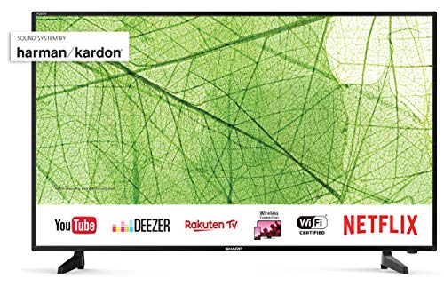 Sharp Aquos LC-40UH7252E Smart TV da 40'' UHD 4K HDR , Suono Harman Kardon [Classe di efficienza energetica A+]