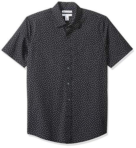 Gestreifte Button-up-shirt (Amazon Essentials Slim-Fit Short-Sleeve Print button-down-shirts, Small Floral, US XXL (EU XXXL-4XL))