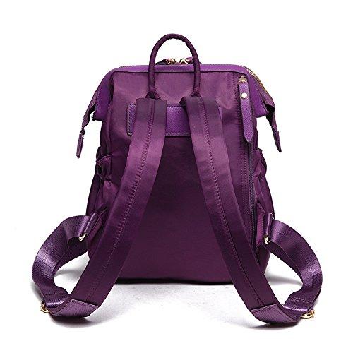 Meoaeo Il Nuovo Zaino Borsa Semplice Impermeabile All-Match Oxford Viaggio Di Piacere Marea Nero Violet