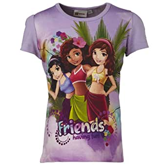 Lego Wear - T - Shirt Fille - Violet - Violett (Purple) - FR : 10 ans (Taille Fabricant : 140) (Brand size: 140)