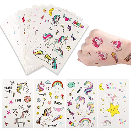 Yosemy tatuaggi temporanei per bambini,tatuaggi finti temporanei adesivi 300+ motivi,per la festa di compleanno favori di partito e compleanni(tatuaggi all' , 25 fogli)