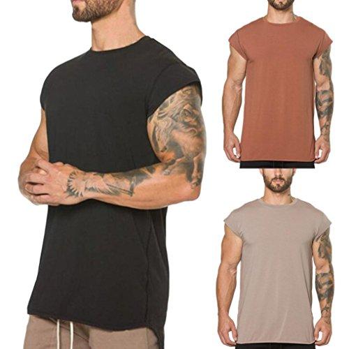 ESAILQ-Mens-Top-Shirt-Blouse-Gyms-Cross-fit-Body-Fitness-Muscle-Short-Sleeve-Designer-XXXXL-XXXL-Clearance-Summer-Casual-XXL-Pack-Zip-Pocket