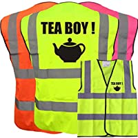 Hi Vis I AM DEAF LOGO Yellow Vest Waistcoat Safety Reflective Jacket Safety Plus a Brook Hi Vis UK Discount Code for your next order