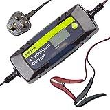 Sakura SS5419 Car Battery, 4.0 Amp Intelligent Charger