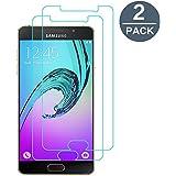 Verre Trempé Samsung Galaxy A3 2016, [2-Pack] Y-ouni Film Protection -SANS BULLES D'AIR -Ultra Résistant Dureté 9H Protection Terre Trempé Samsung Galaxy A3 2016
