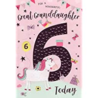 for A Wonderful Great Granddaughter 6 Today - Birthday Card
