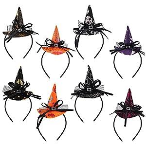 Diademas de Halloween,8 unids bruja