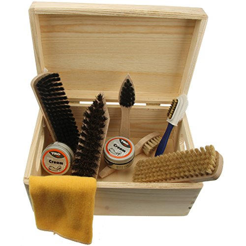 Shoe Care Pinewood Box -Verona- ...