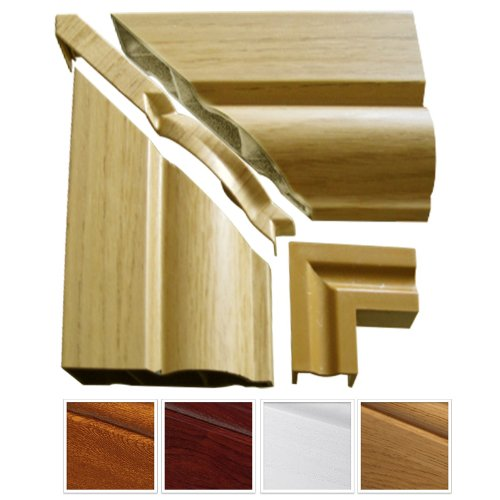 1-x-english-oak-roomline-upvc-architrave-sample-pack-consists-of-2-x-architrave-pieces-125mm-lengths