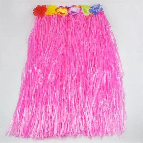 Imagen de smallwise trading hawaiian grass skirt flor hula lei guirnalda disfraz 5pcs set rosa  alternativa