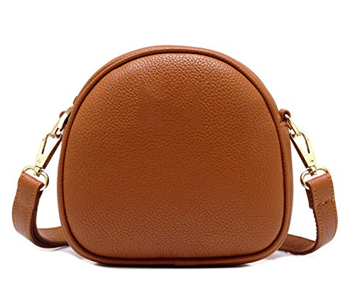 Mme Sac Mini-sac Messager Simple Sac à Main De Sac à Bandoulière Petites Coquilles Diagonale brown