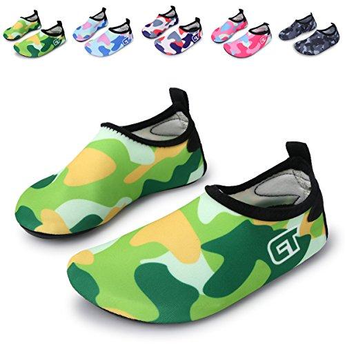 Para Run De l Crianças Yoga Descalços Surf Praia Sapatos Aqua Água Nadando Verde Os Com Meias Pés Piscina De wRqqCn7dx