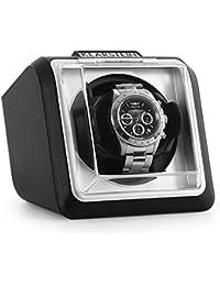 Klarstein 8PT1SR • Uhrenbeweger • Uhrendreher • Uhrenbox • Uhrenkasten • für 1 x Automatikuhr • Links-Rechts-Lauf • vorprogrammierter Drehrhythmus • für Armbandlängen von 170-202 mm • schwarz