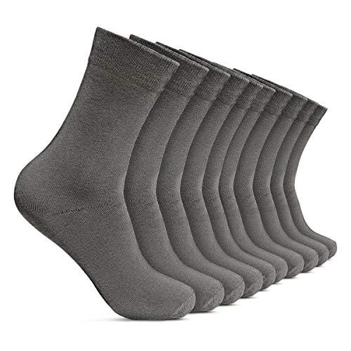 ROYALZ Herrensocken 10 Paar Casual-Business und Freizeit Anzug-Socken Herren-Strümpfe lang 10er Pack, Größe Socken:39-42, Set:10 Paar/Grau