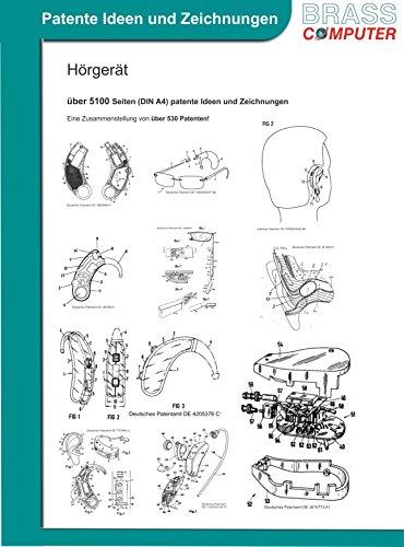 Hörgerät, über 5100 Seiten (DIN A4) patente Ideen und Zeichnungen
