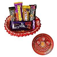 SFU E Com Holi Chocolate Basket Hamper   Holi Special Chocolate Gift   Premium Chocolate Hamper   Holi Pooja Thali   Pack of Chocolate Box-1   109