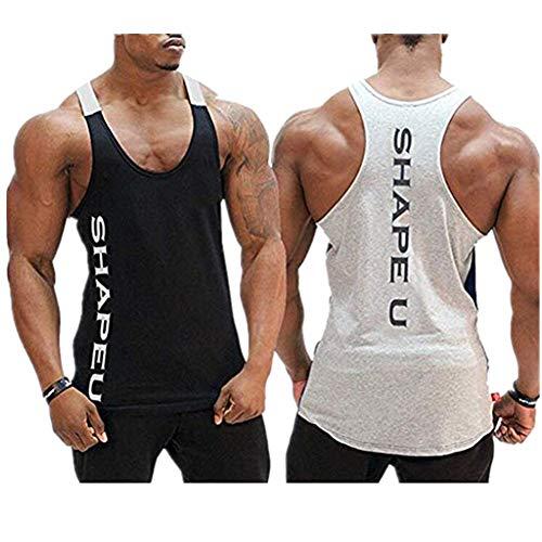 Storerine Mode Tank,SHAPEU Zwei-farbige Muskel-Herrenweste für Herren Ärmelloses Männer Tank Top T-Shirt Bodybuilding Sport Fitness - Sexy Swat Team Kostüm