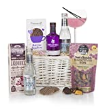 Gin Lovers Hamper Basket - Gin Hampers - The Perfect Birthday Present or Thank You Gift For Gin Lovers