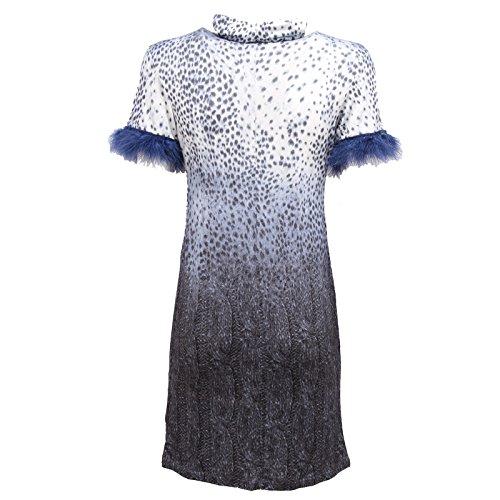 0299R vestito donna BLUGIRL FOLIES rayon blu/bianco dress woman Blu/Bianco