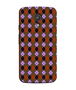 PrintVisa Designer Back Case Cover for Motorola Moto G2 :: Motorola Moto G (2nd Gen) (Matty Box Square Design Texture Matefinish Brown)