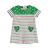 JERFER Mädchen Liebe Punkt Streifen T-Shirt Top Bluse Kurzarm-Shirt 1.5-6Jahre (Grün, 3T)