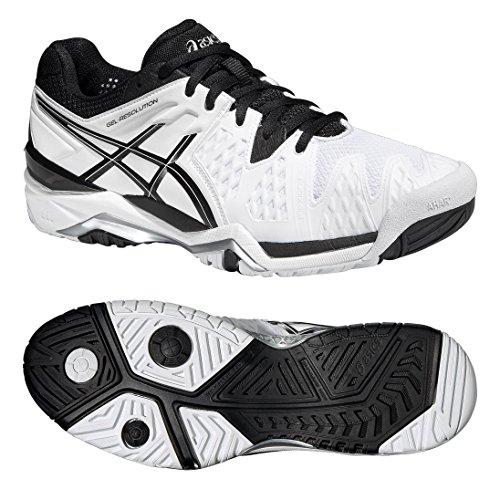 ASICS Gel-Resolution 6 Chaussure Sport En Salle - SS16 Blanc/Noir/Argent