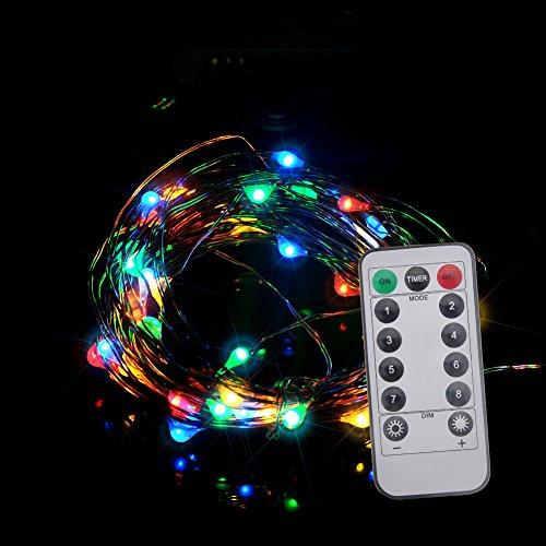 LED stringa luci catena luminosa a batteria 5 m 50 led, filo di rame impermeabile per Natale matrimonio compleanno Cafe Bar negozio vaso