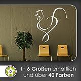 Hahn Linien Wandtattoo in 6 Größen - Wandaufkleber Wall Sticker