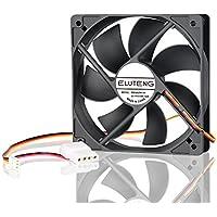ELUTENG Ventola 120mm PC Case 12V be Quiet Radiaore Raffreddamento con 4 Pin + 3 Pin Interfaccia Cooler Silenziosa Idraulici Fan 12cm per DIY Computer