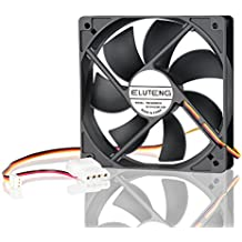 ELUTENG Ventilador de PC 120mm Fan Powered by 3 Pin or 4 Pin Interface 12V Fan for Cooling Computer Case PC Fan for Receiver DVR Playstation Xbox Computer Cabinet Cooling Silent Office/Home