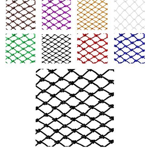 Wlh Kinderschutznetz Seilnetz, Sicherheitsnetz Outdoor-Sportarten Sicherheitskletternetz Nylonnetz Seilnetz (Spezifikation: 12 Mm Seil, 10 cm Loch) (Farbe: Schwarz) (Size : 1 * 6m)