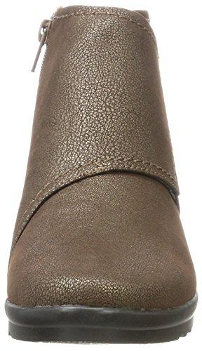 Clarks Caddell Rush, Scarpe da Ginnastica Alte Donna Argento (Bronze)