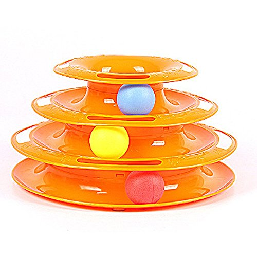 Hankiki Three Layers Haustier Spielzeugs Intelligence Crazy Play Tray Katzen Play Amusement Plate