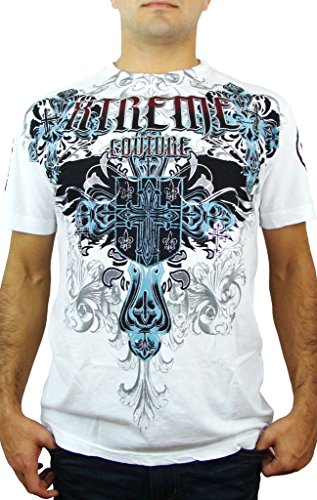 Xtreme Couture by Affliction T-Shirt Classic Crest Weiß Weiß