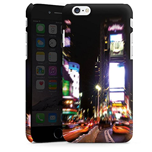 Apple iPhone X Silikon Hülle Case Schutzhülle Times Square Broadway New York City Premium Case matt