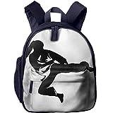 sd4r5y3hg School Backpack for Girls Boys, Kids Cute Karate Cartoon Backpacks Book Bag