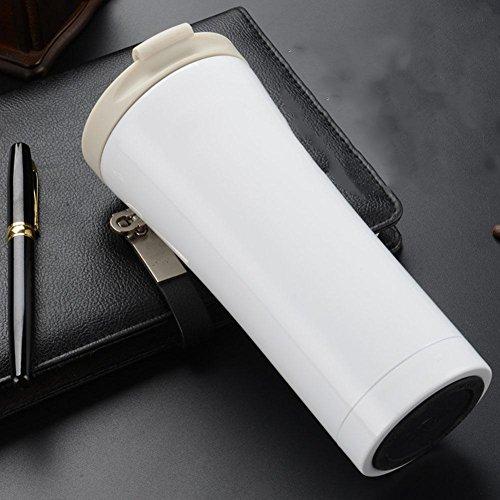 DONG 304 Edelstahl Vakuum / 500ml / / Doppelzimmer/Edelstahl/Auto/Gewerbe/Isolierung/Tasse , noble white , 500ml