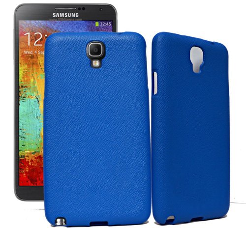 ECellStreet Samsung Galaxy Note 3 Neo N7500 N7505 Exclusive Neon Collection Dark Blue Rubbersied Soft Back Case Cover Back Cover  available at amazon for Rs.164