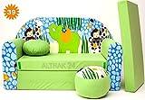 Kindersofa Spielsofa Minicouch aus Schaum Kindersessel Kissen Matratze Farbwahl (39)