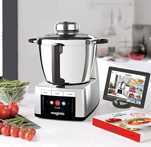Magimix - Cook Expert - Robot de cuisine avec fonction cuisson, chrome satiné, multifonction