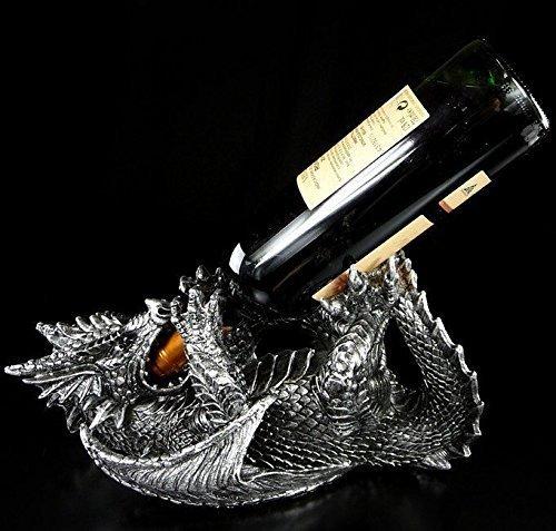 Drachen Figur Weinflaschen-Halter | Tolle Geschenkidee und Weinverpackung | lustig witzig