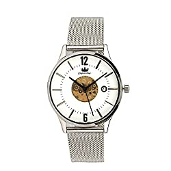 valentine gifts : Ciemme valentine sale Mens Luxury Rich Formal Slim Swiss Quartz Movement Mechanical White Dial Wristwatch