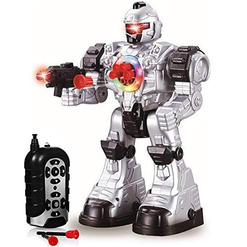 """deAO Robot Teledirigido """"Beast Ares"""" Interactivo con Acciones Múltiples y Efectos de Luz y Sonido Incluye Dardos de Plástico"""