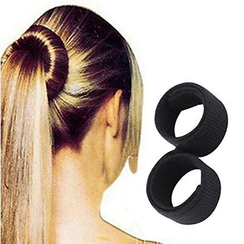 Artifice Hair Donut Bun Maker Magic Tool Sweet French Dish Roller Printed Hair Head Band