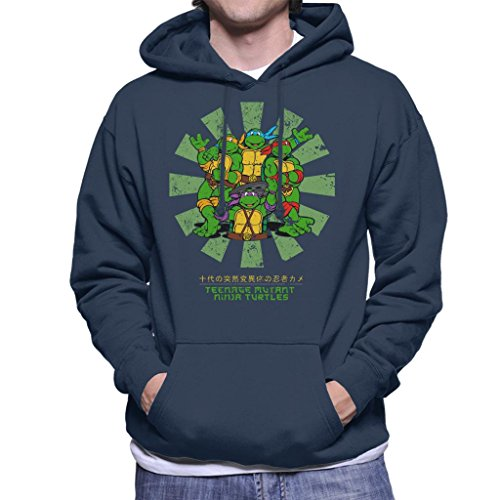 Cloud City 7 Teenage Mutant Ninja Turtles Retro Japanese Men's Hooded ()