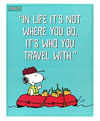 Eureka Peanuts die Sie Reisen mit 43,2x 55,9cm Poster (837244)