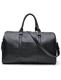 tuokener Sac de Voyage Femme Sacs Week End Femmes PU Leger Bandoulière Duffle Bag Sac de Sport Gym Bag Waterproof
