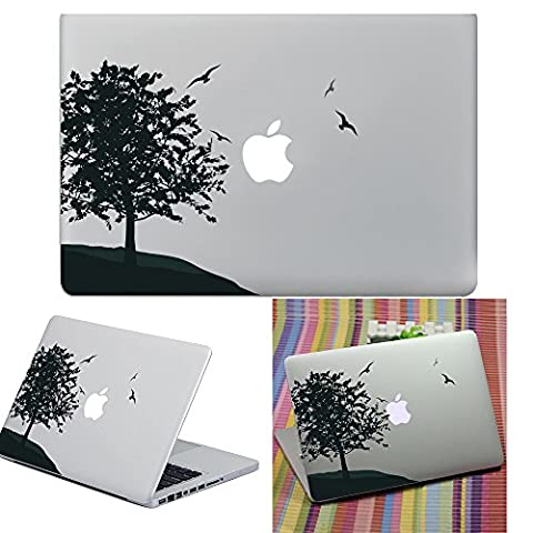 Macbook Aufkleber Abziehbild, YUDA Tech Abnehmbar V?gel und Baum Entwurf Vinyl Decal Haut Stickers Passt Perfekt f¨¹r Laptop MacBook Air/Pro/Retina 13 15 Zoll