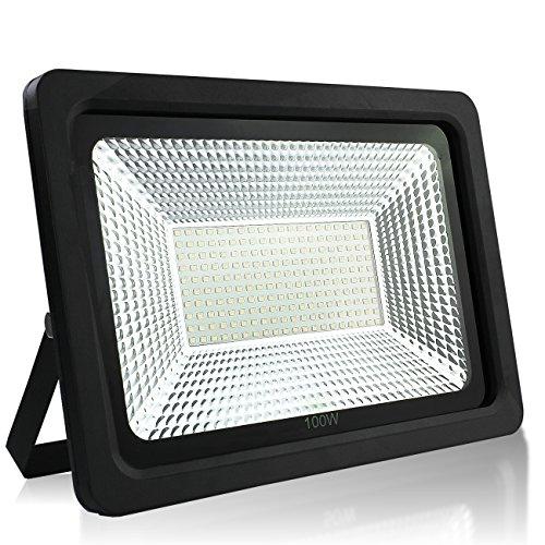 PMS Schlank LED Scheinwerfer Flutlicht Fluter Strahler Außenstrahler Außenbeleuchtung Innenbeleuchtung Wasserdicht (Kaltweiss, 100W)