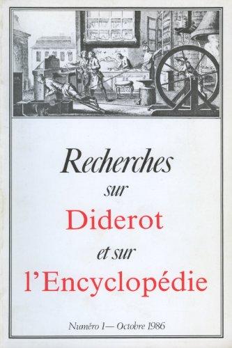 Recherches sur Diderot et sur l'Encyclopédie